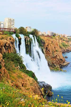 Waterfall Duden at Antalya, Turkey photo