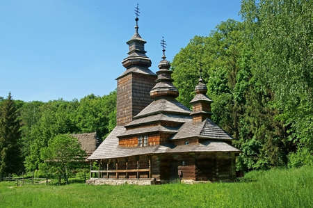 old church: Old Ukrainian church