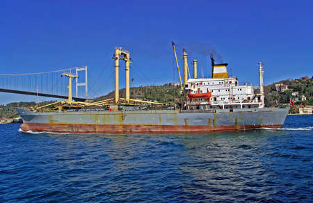 seabus: Old ship in the Borphorus, Istanbul, Turkey