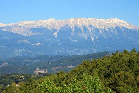 Taurus Mountains near town Kumluca, Turkey Imagens