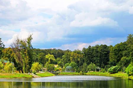 grassy plot: Park in Feofaniya, Kyiv, Ukraine