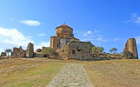 Famous Jvari church near Tbilisi in Georgia