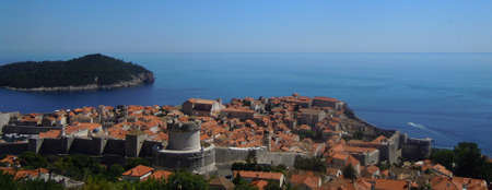 Beautiful landscape with mediterranean town, Montenegro photo
