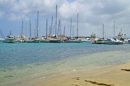 Sea coast and boats in Bizerte, Tunisia Stock Photo - 16195275