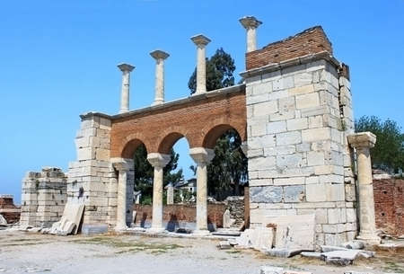 st  john: The ruins of basilica of St  John in Selcuk, Turkey