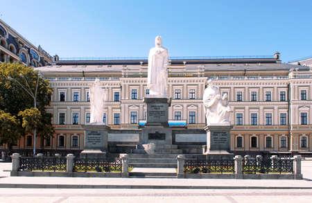 Olga of Kiev - Saint Princess important for Ukraine history  Statue on Michailovsky Square