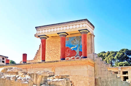 Ruins of the Knossos palace Imagens