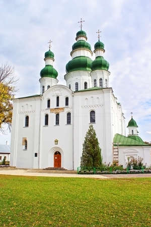 rus: Dormition (Uspensky) Cathedral of Eletsky Womens monastery in Chernihiv. Chernihiv - capital of Chernihiv region in Northern Ukraine. Chernihiv is one of oldest cities of Kievan Rus (907)