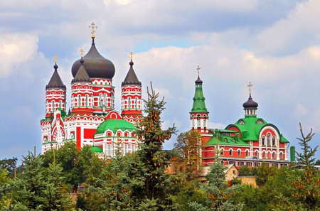 Orthodox cathedral in Feofaniya, Kiev, Ukraine Stock Photo - 17429341