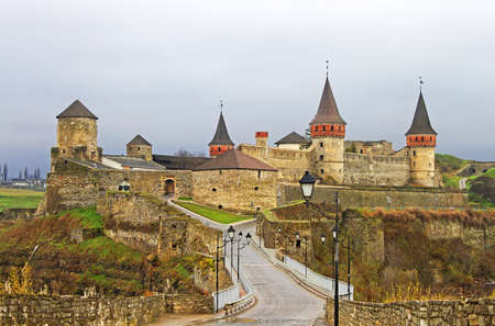 Old Castle in Kamyanets-Podilsky, Ukraine photo