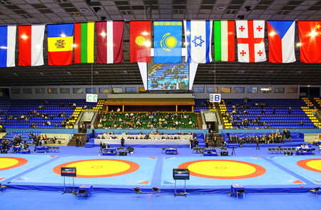 catch wrestling: KYIV, UKRAINE - FEBRUARY 16: 19 International Tournament in wrestling was held in Kyiv February 16, 2013 in Kyiv, Ukraine Editorial