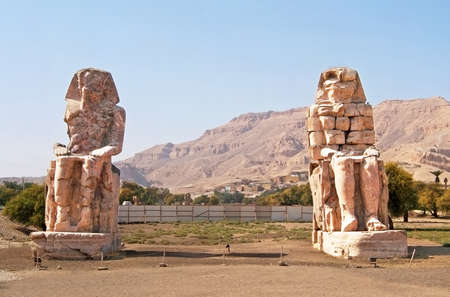 Colossi of Memnon at Luxor, Egypt