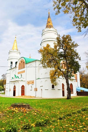 Transfiguration Cathedral - a five-domed temple in Chernigov  The oldest preserved monument of ancient architecture in Ukraine  Stock Photo - 18270440