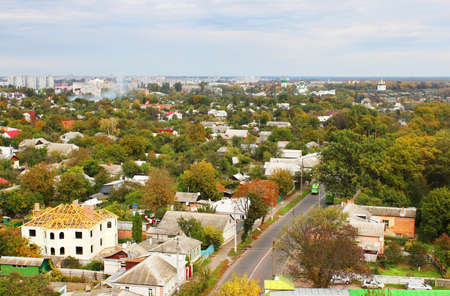 Chernigov city in the autumn, Ukraine