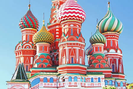 Domes of the famous Head of St  Basil Stock Photo - 20314219