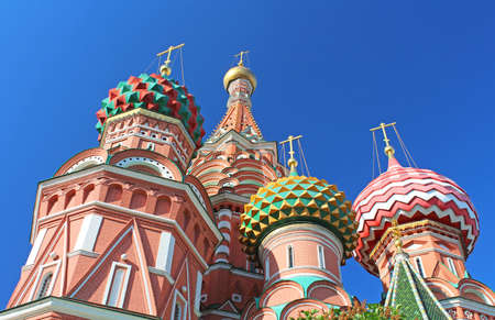 St. Basils cathedral on Red Square in Moscow, Russia photo