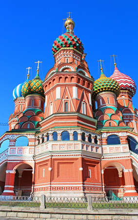 St. Basils cathedral on Red Square in Moscow, Russia Stock Photo - 20314241