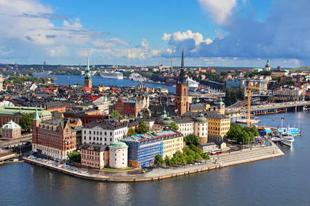 Panorama of Stockholm Old City, Sweden photo