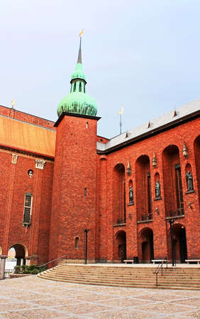 Yard of Stockholm City Hall, Municipal Council for the City of Stockholm in Sweden photo