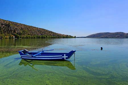 Small blue boat, Greece photo