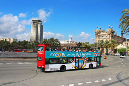 Barcelona Bus Touristic  3 routes with 1 ticket  Open-top double decker bus  Audioguide in 10 languages in Barcelona, Spain, Catalonia