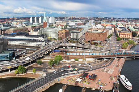 norrmalm: View of Norrmalm area from City Hall, Stockholm, Sweden Stock Photo