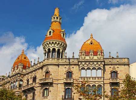 Cases Pons in Barcelona, Spain  Was built in 1890-1891 by Catalan architect Enric Sagnier