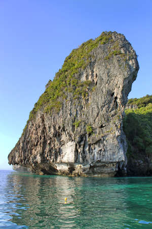 Limestone rock, Krabi, Thailand photo