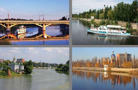 River Southern Bug in Vinnitsa, Ukraine photo