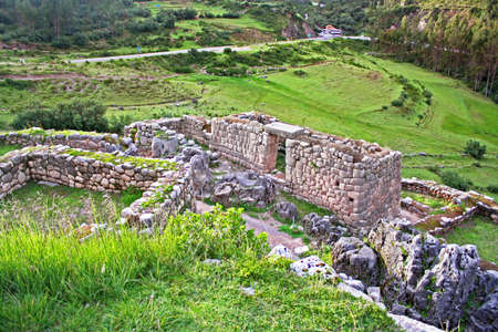 quechua: Puca Pucara offers stunning views of the Cusco Valley  In Quechua its name means Red Fort