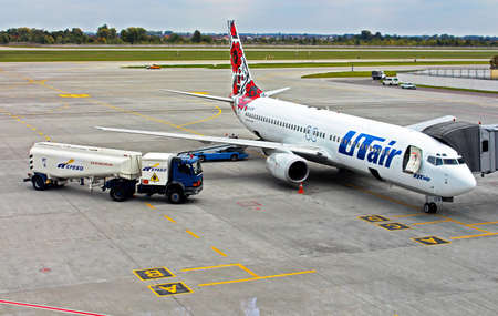 Plane in International Airport Kyiv, Ukraine