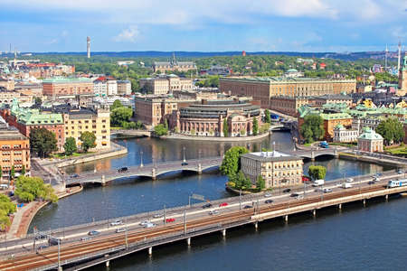 Panorama of Stockholm, Sweden photo