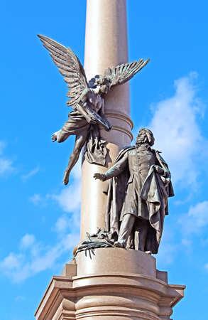 mickiewicz: Adam Mickiewicz Monument in Lviv, Ukraine.