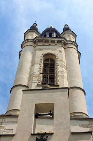 Bell tower of armenian Cathedral of the Assumption of Mary in Lviv, Ukraine photo