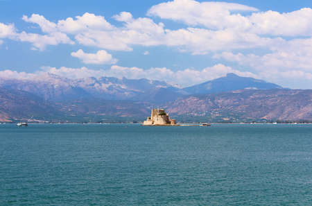 bourtzi: Bourtzi fortress, a prison in the sea in front of Nafplio town the first capital of Greece