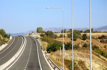 public works: Highway at Greece Stock Photo