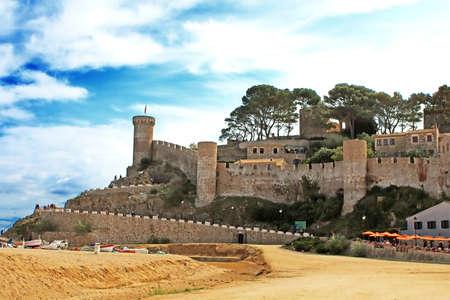 Ancient castle in Tossa de Mar, Costa Brava, Spain