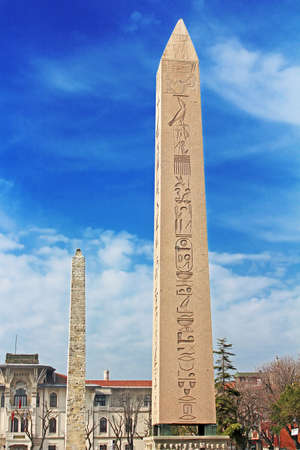 Obelisk at hippodrome in Istanbul, Turkey