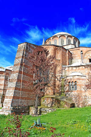 chora: Church of the Holy Savior in Chora. Second name of it now is The Kariye Museum in Istanbul, Turkey Editorial