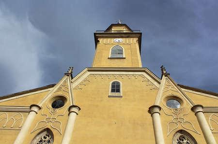exaltation: Roman Catholic Cathedral of the Exaltation of the Holy Cross (XIII century), Berehove, Ukraine