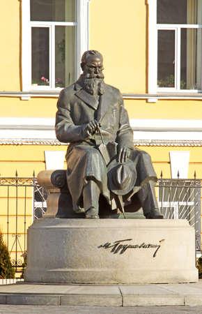 statesman: Mykhailo Serhiyovych Hrushevsky - ucraina accademico, politico, storico, e statista, una delle figure pi� importanti di Ucraina. Statua si trova a Kiev, Ucraina