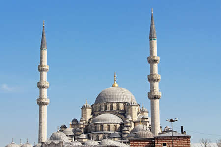 eminonu: View of the New Mosque (Yeni Cami) in Istanbul, Turkey