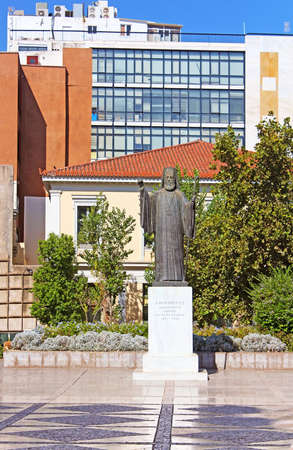 archbishop: Statue of Archbishop of Greece Damaskinos (1891-1949), Athens
