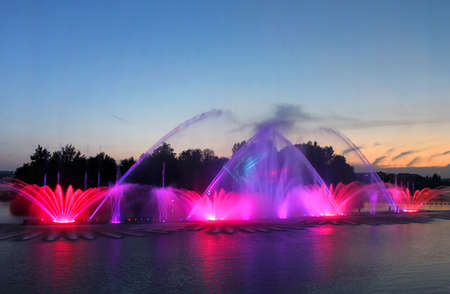 Biggest fountain on the river was opened in Vinnytsia, Ukraine. Located in the river Southern Buh fountain has a length of 140 meters and the height of the jet up to 60 m