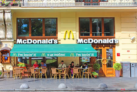 landlord: MacDonalds restaurant in Lviv, Ukraine. It is situated in building number 7 on Shevchenko Avenue, the former home of Jonah Shprehera - the largest landlord in Lviv in the first half of the XX century