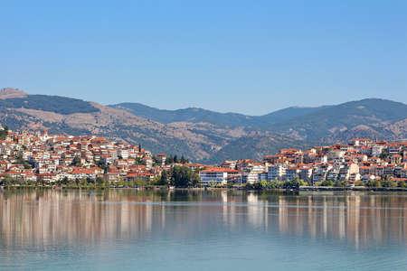 City Kastoria and Lake Orestiada, Greece photo