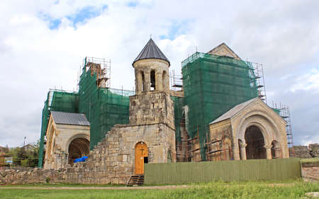 kutaisi: Bagrati Cathedral Cathedral of the Dormition under construction in Kutaisi Georgia Archivio Fotografico
