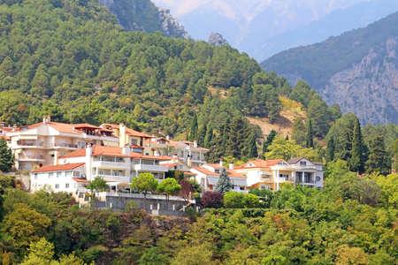 olympus: Small town of Litohoro near Mount Olympus in Greece