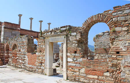 st  john: The ruins of basilica of St. John in Selcuk Turkey