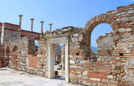 st john: The ruins of basilica of St. John in Selcuk Turkey